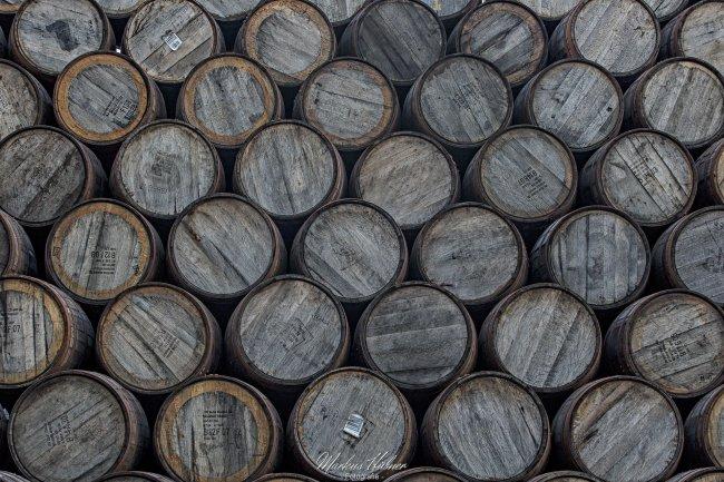 23.07.2018: Whisky casks.